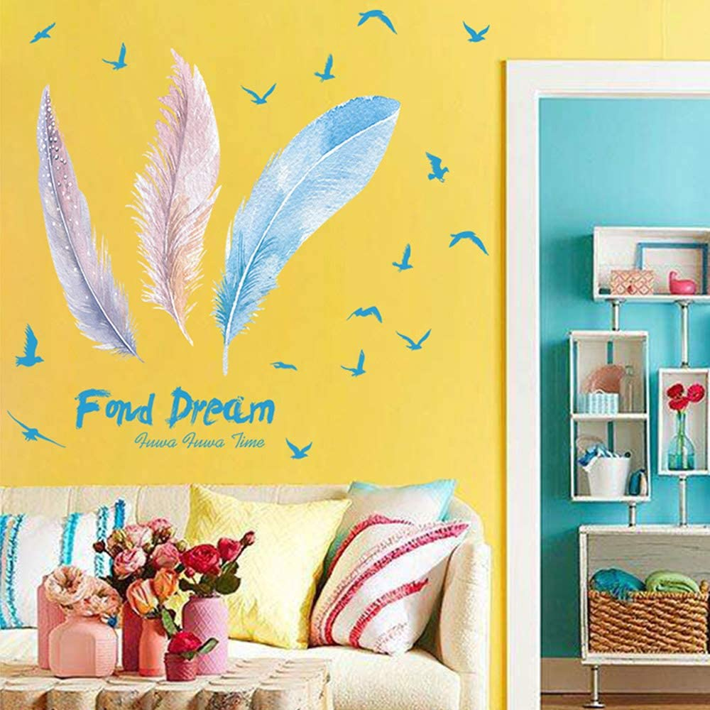 EANUR Wall Decals, Living Room, Bedroom, Foyer, Study, Classroom, Office, Wall Stickers, Removable Mural Paper (G)