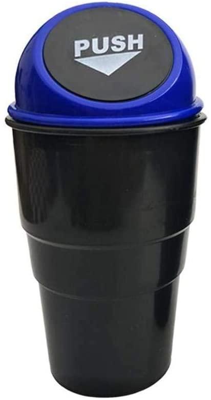 Car Trash Garbage Automotive Waste Interior Storage Bin Basket Vehicle Mini Can Blue