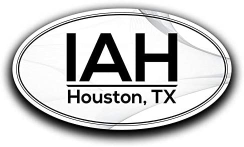 More Shiz IAH Houston Texas Airport Code Decal Sticker Home Travel Car Truck Van Bumper Window Laptop Cup Wall - Two 5.5 Inch Decals - MKS0575