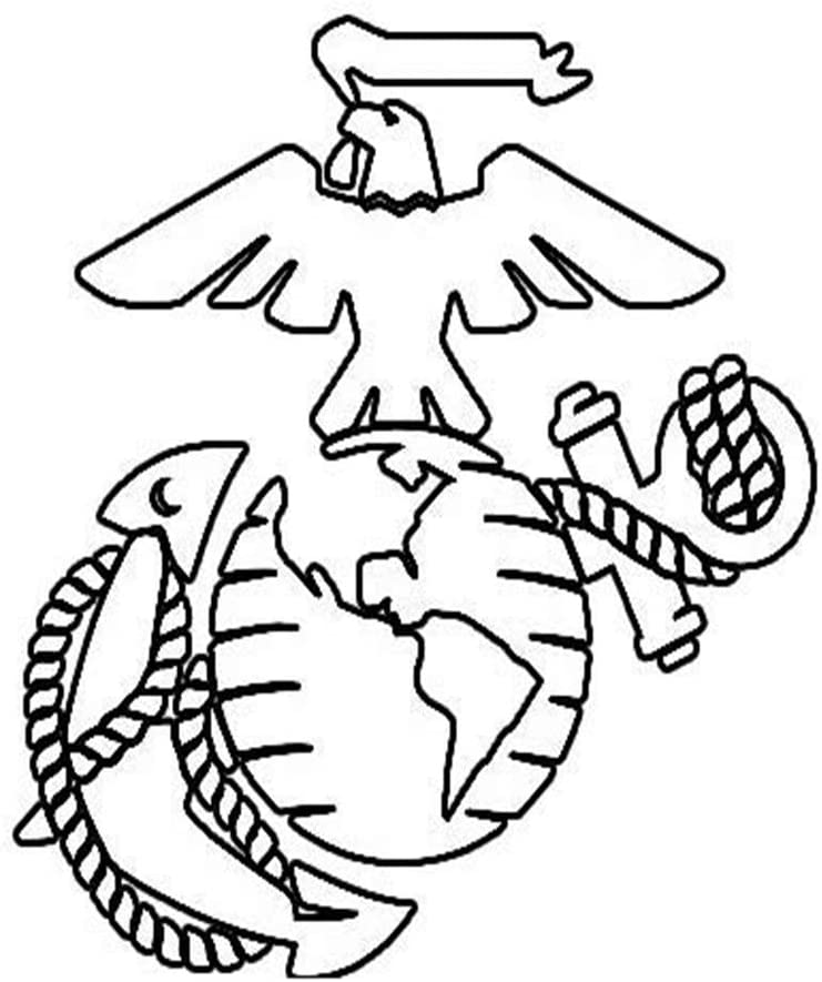 United States USMC Marine Corps Die Cut Printed Decal Sticker - 5