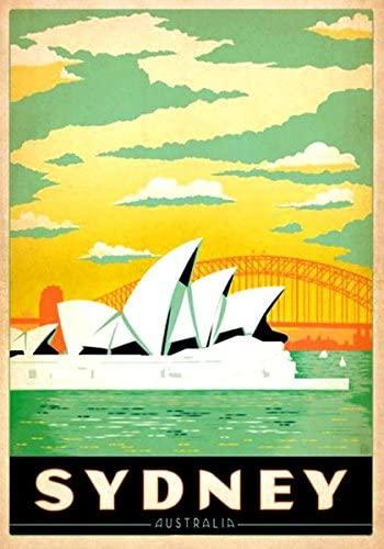 American Vinyl Vintage Art Sydney Australia Sticker (Australian Visit Travel)