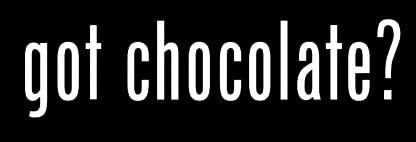 LLI Got Chocolate? | Decal Vinyl Sticker | Cars Trucks Vans Walls Laptop | White |5.5 x 1.5 in | LLI855