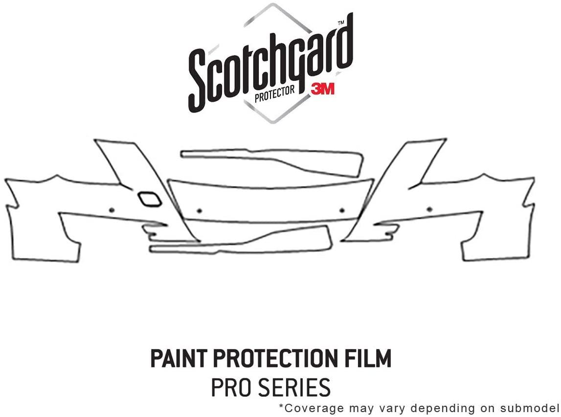 Rvinyl 3M Pro Shield Paint Protection Film Clear Bra Kit for Cadillac XTS 2016 - Bumper