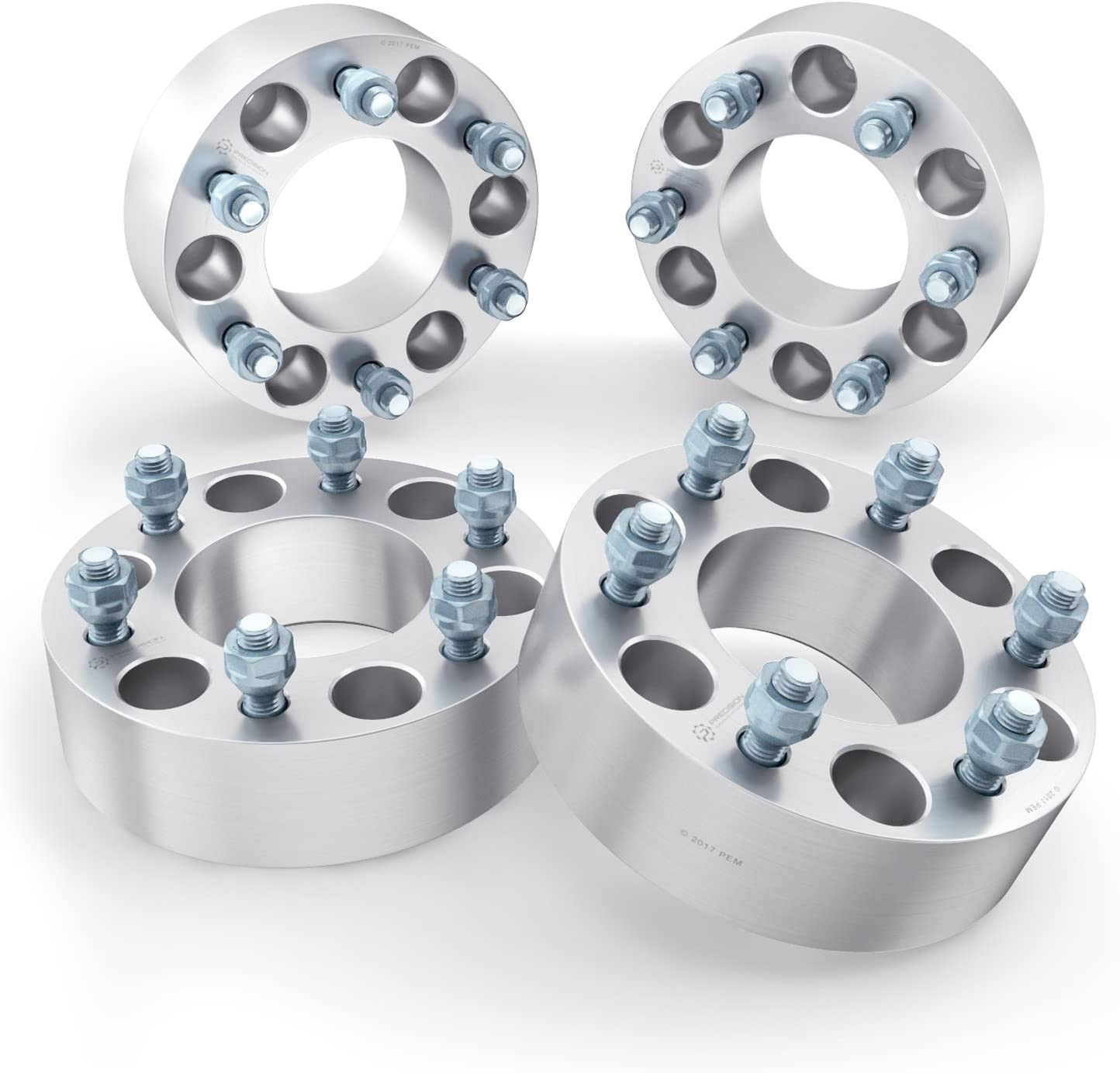 RockTrix 1.5 inch Hubcentric Wheel Spacers (6x4.5 to 6x4.5, 71.5mm bore, 1/2x20 Studs Nuts) Compatible with Dodge 1992-2010 Viper, 1991-2003 Dakota, 1991-2003 Durango (6x114.3, 38mm, Silver, 4pcs)