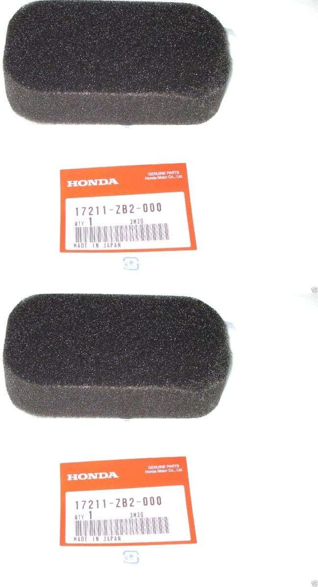 Honda 2 Pack Genuine 17211-ZB2-000 Air Filter Element OEM