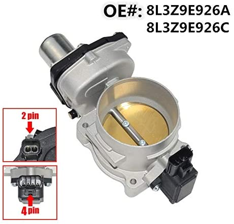 MSQ-CD 75mm Throttle Body 8L3Z9E926C with TPS Sensor For Fo-rd F150 250 350 Expedition Lincoln Navigator 8L3Z9E926A