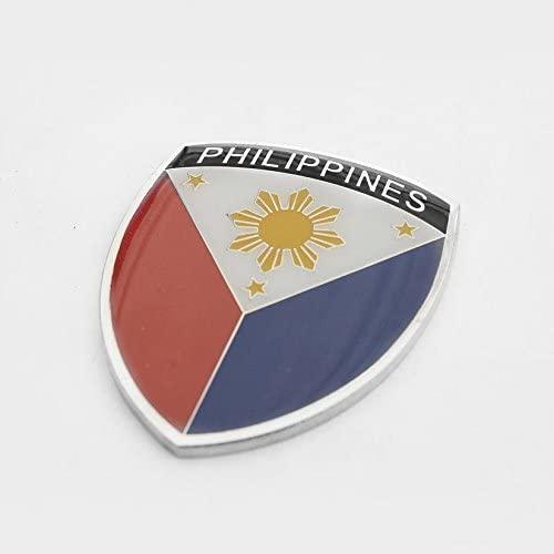 Amazing Philippines Pilipino Show Quality Metal Decorative Emblem Decal Ornament 1.5