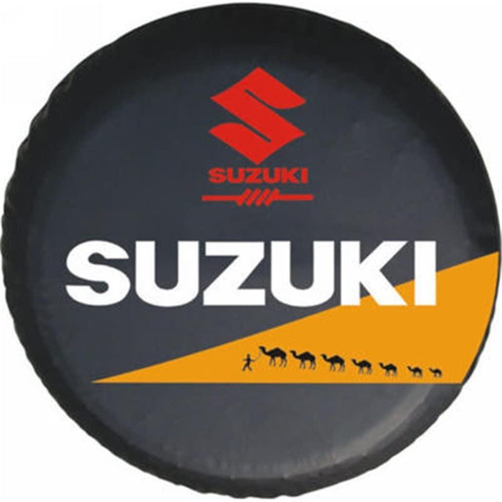 Dreamtao Puzzle Pattern Car Spare Wheel Cover Spare Tire Cover 15 Inch for Suzuki
