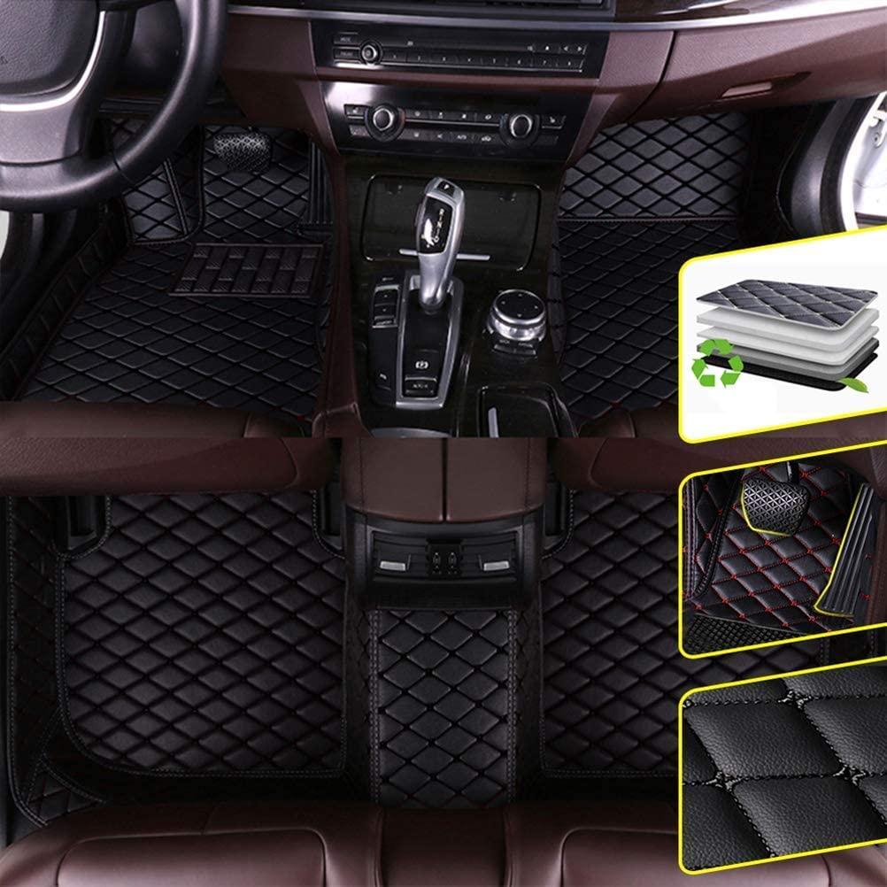 DBL Custom Car Floor Mats for Subaru 2019 Subaru Forester Waterproof Non-Slip Leather Carpets Automotive Interior Accessories 1 Set Black