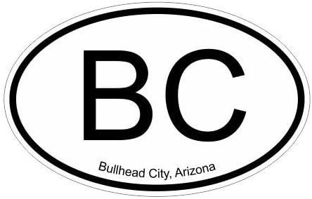 Slap-Art BC Bullhead City Arizona Oval Vinyl Decal Sticker