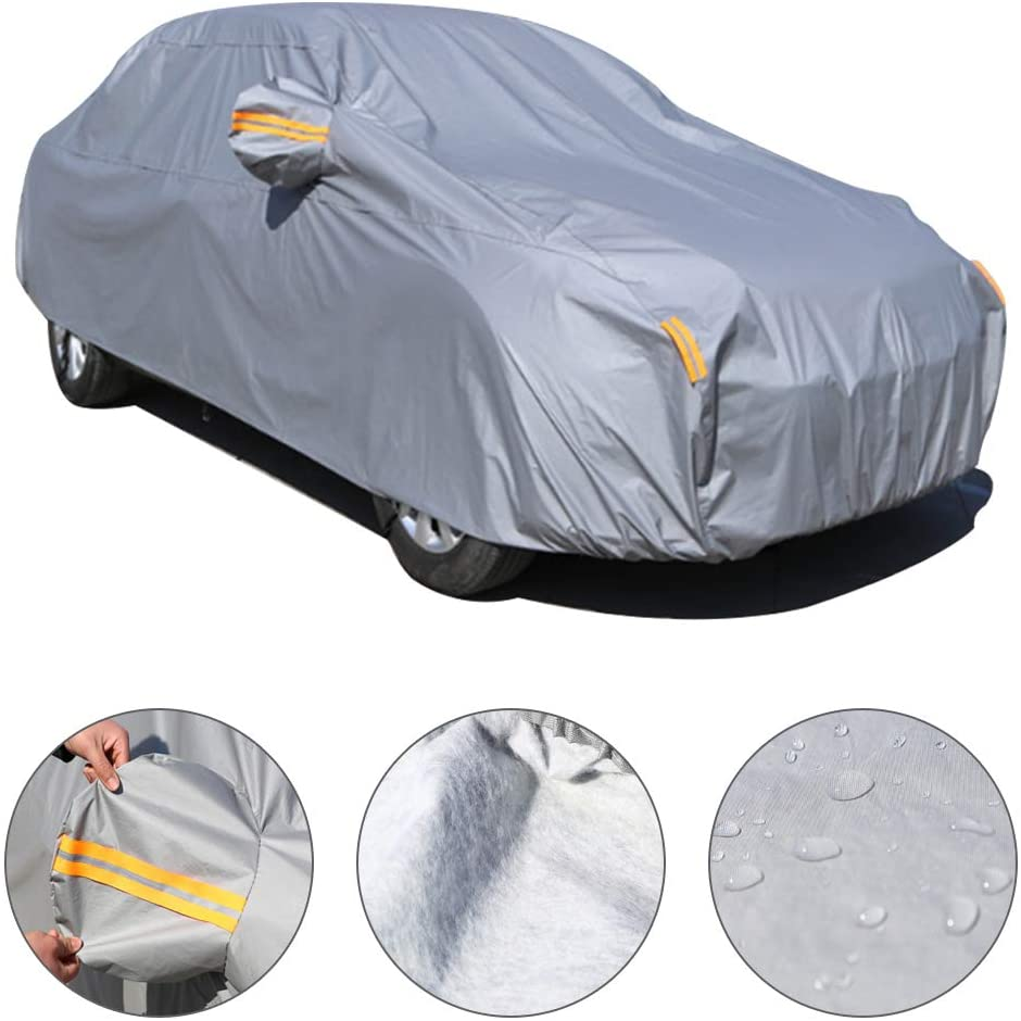 Car Cover for Peugeot 308CC All Weather Breathable Outdoor Indoor Waterproof Windproof Dustproof Scratch Resistant UV Protection Universal Car Cover