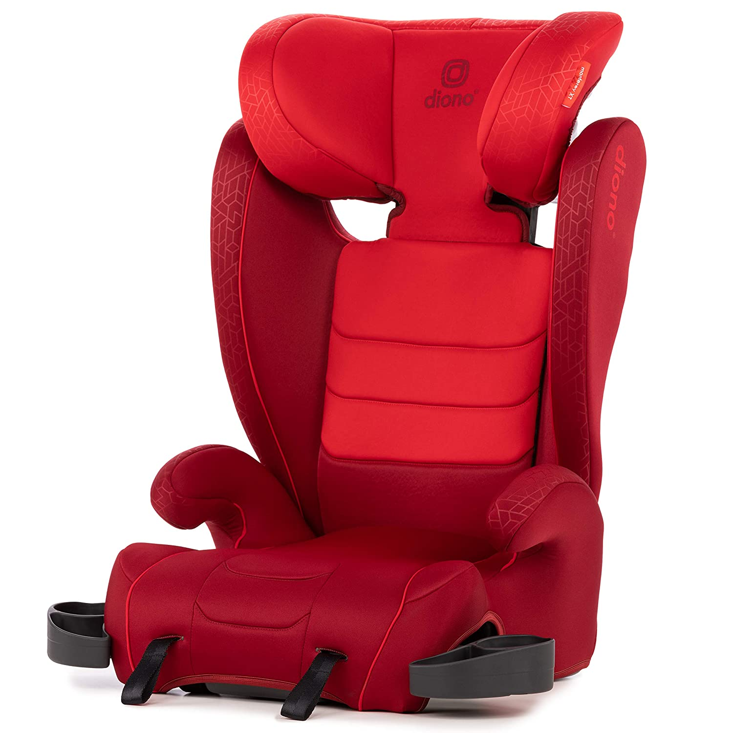 Diono Monterey XT Latch, 2-in-1 Belt Positioning Booster Seat with Expandable Height/Width, Red