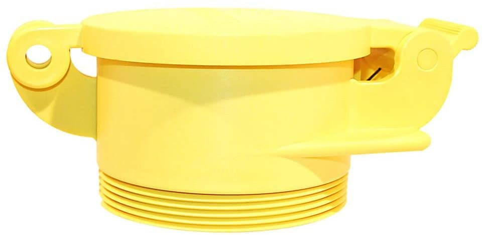 Enviro Design Products RV Park/Campground Sewer Cap: Yellow Male Footloose