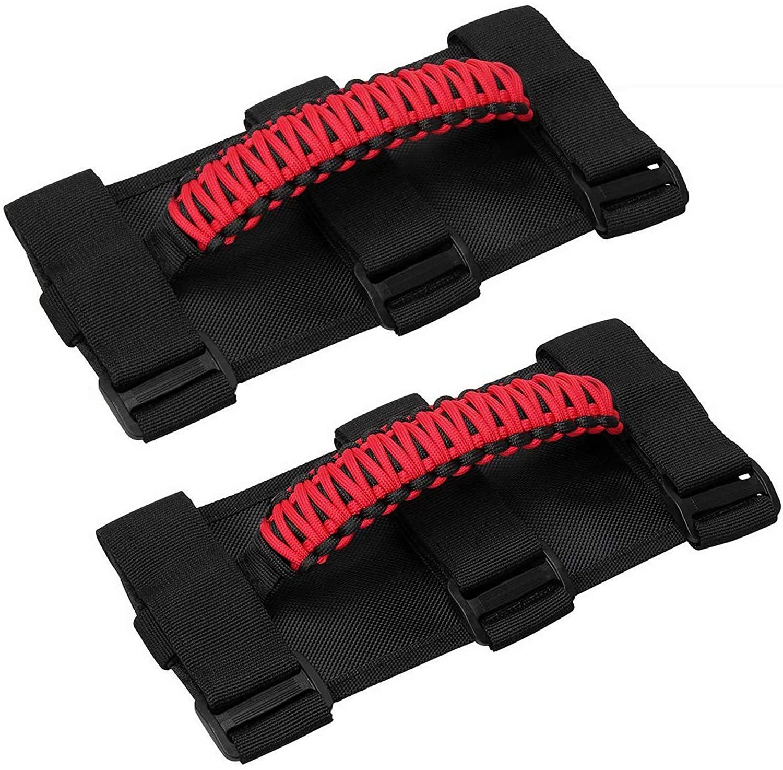 cartaoo Grab Handles for Jeep, Premium Paracord Straps Design Wrangler Roll Bar Grab Handles for CJ YJ TJ JK JL