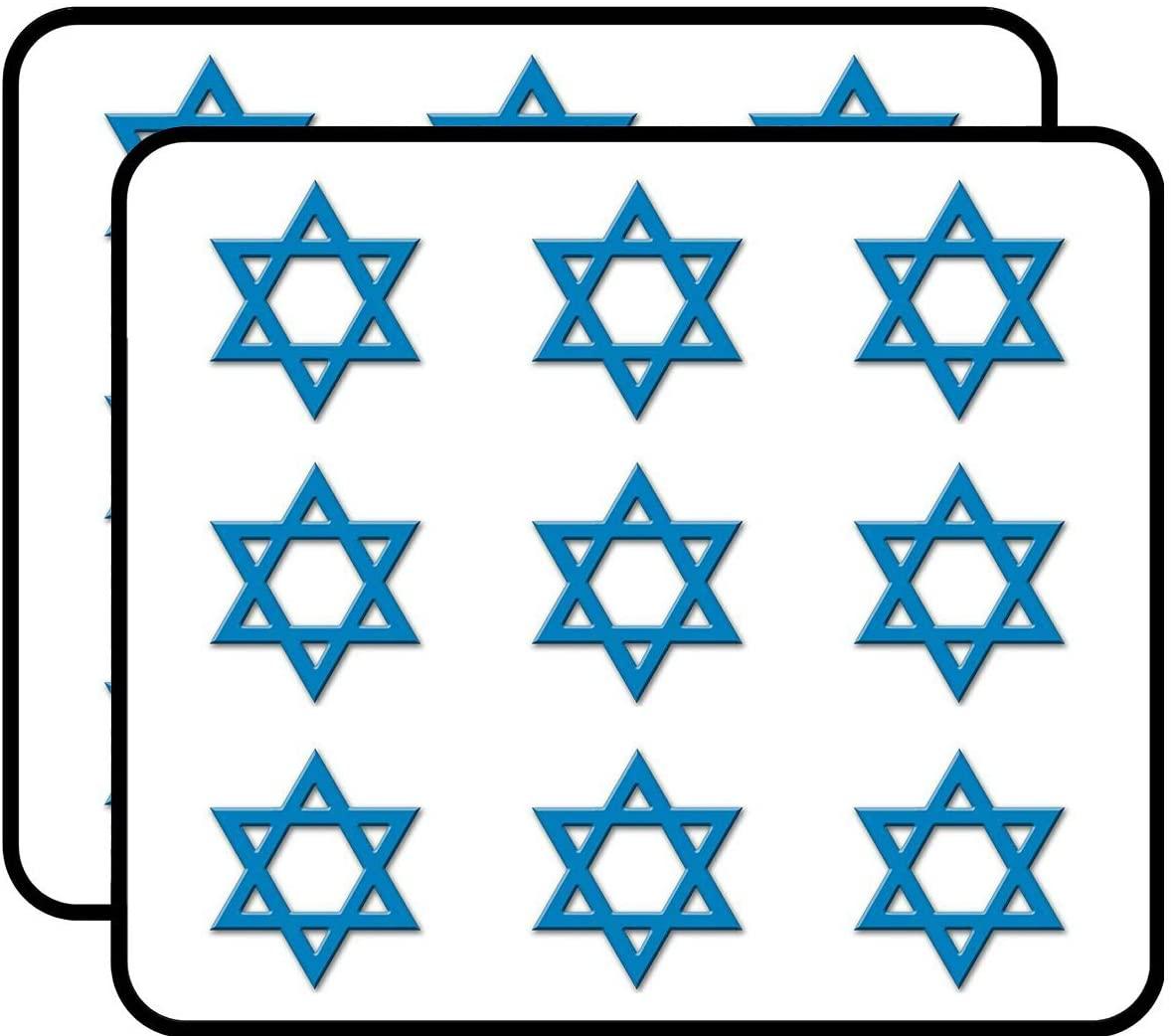 Blue 3D Look Star of David (Israel Logo Jewish Heritage Love) Sticker for Scrapbooking, Calendars, Arts, Album, Bullet Journals 2