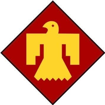 US Army 45th Infantry Division Patch Decal Sticker - 5'' Sticker Graphic - Sticks to any smooth surface