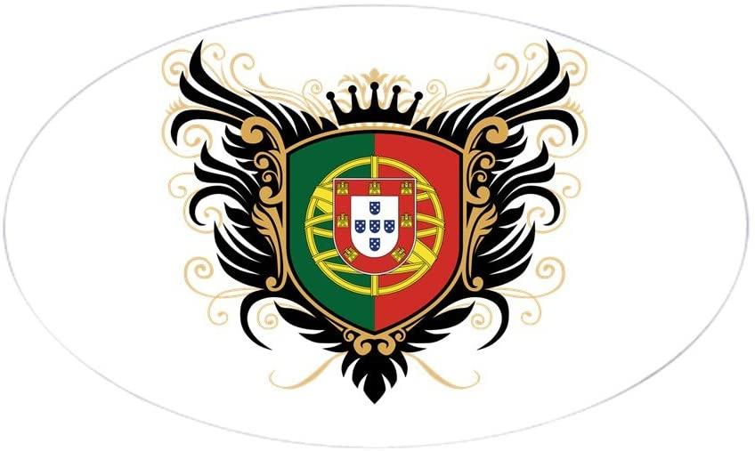 CafePress Portugal Crest Oval Bumper Sticker, Euro Oval Car Decal