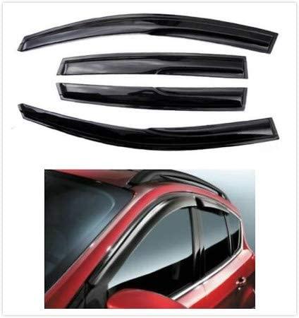 Lavnox 4Pcs Ventvisor Side Window Visor Rain Sun Wind Deflectors Guard Vent Shade Black Tinted for 2013 2014 2015 2016 2017 Ford Escape