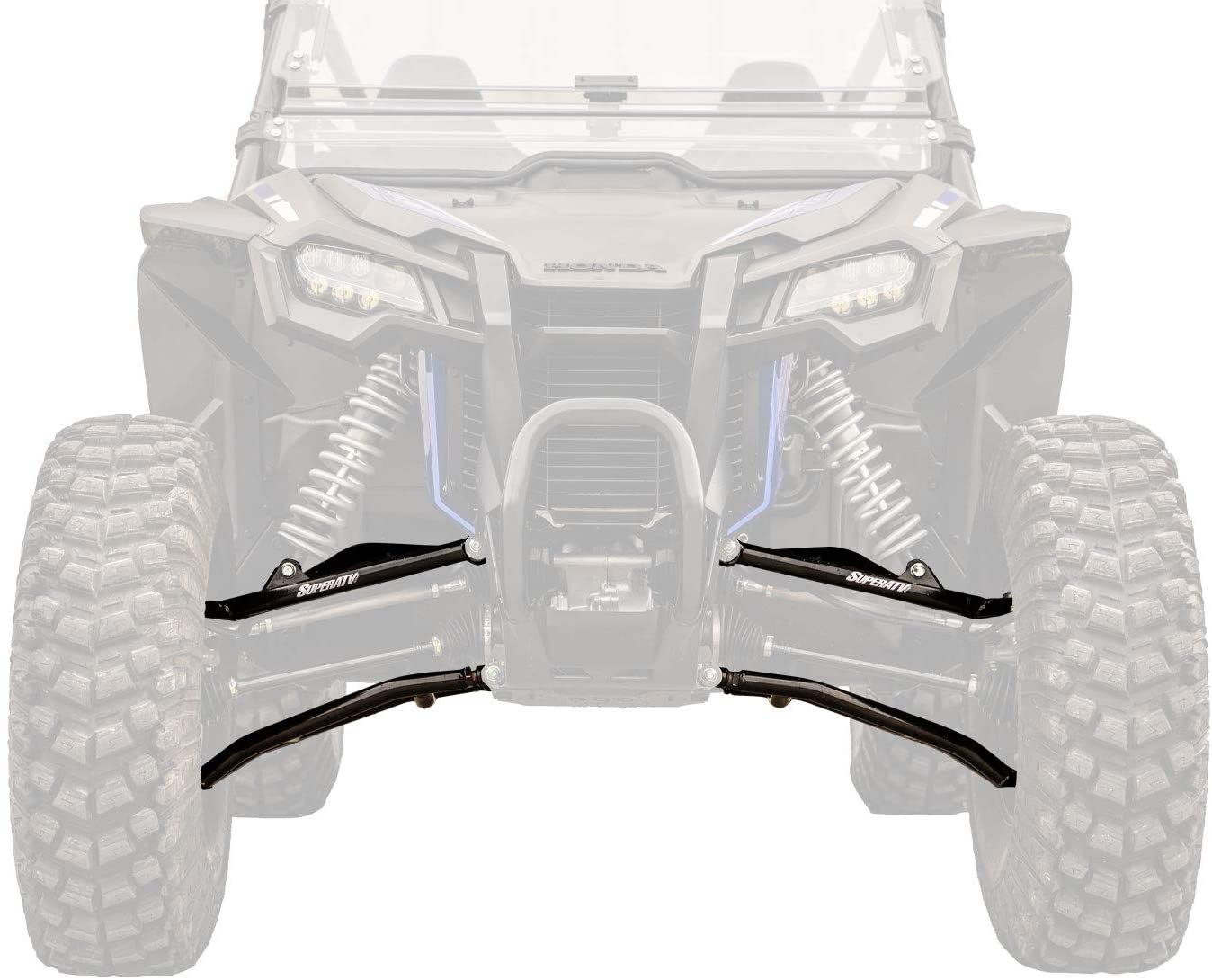 SuperATV High Clearance 1.5 Forward Offset A Arms for Honda Talon 1000X (2019+) - Black - Fit up to a 34 Tire!