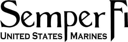 DF USA DECALS USMC Semper Fi - Sticker Graphic - Auto, Wall, Laptop, Cell, Truck Sticker for Windows, Cars, Trucks (Black)