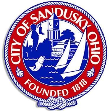 American Vinyl Sandusky Ohio City Seal Sticker (Decal Logo oh Bumper)
