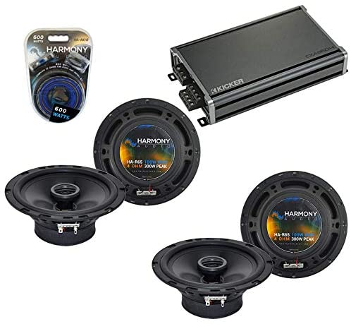 Compatible with Nissan Rogue 2008-2013 Factory Speaker Replacement Harmony Audio Bundle (2) R65 & CXA360.4