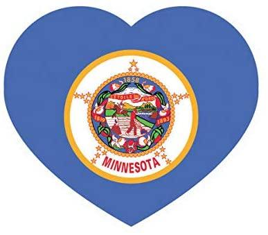 EW Designs Minnesota Heart Sticker Decal Vinyl MN Love Hearts Pride Native Bumper Sticker Vinyl Sticker Car Truck Decal 5