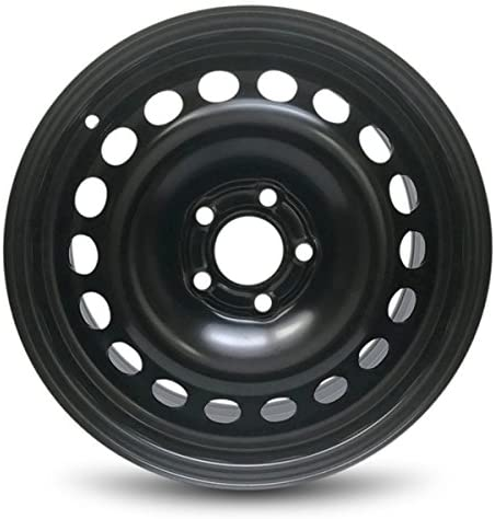 Road Ready Car Wheel for 2006-2012 Saab 9-3 16 Inch 5 Lug Black Steel Rim Fits R16 Tire - Exact OEM Replacement - Full-Size Spare