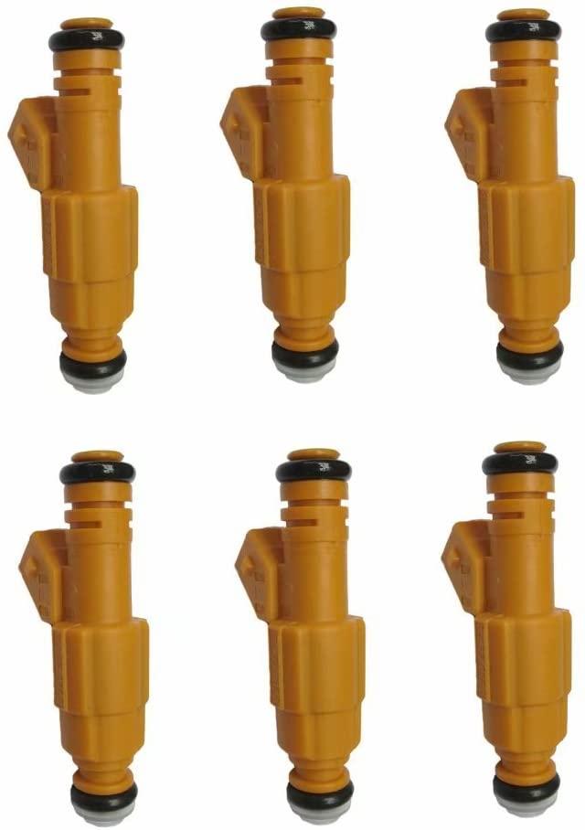 NEW 6pcs Fuel Injectors For 87-98 JEEP 4.0L Replace 0280155710 0280155700