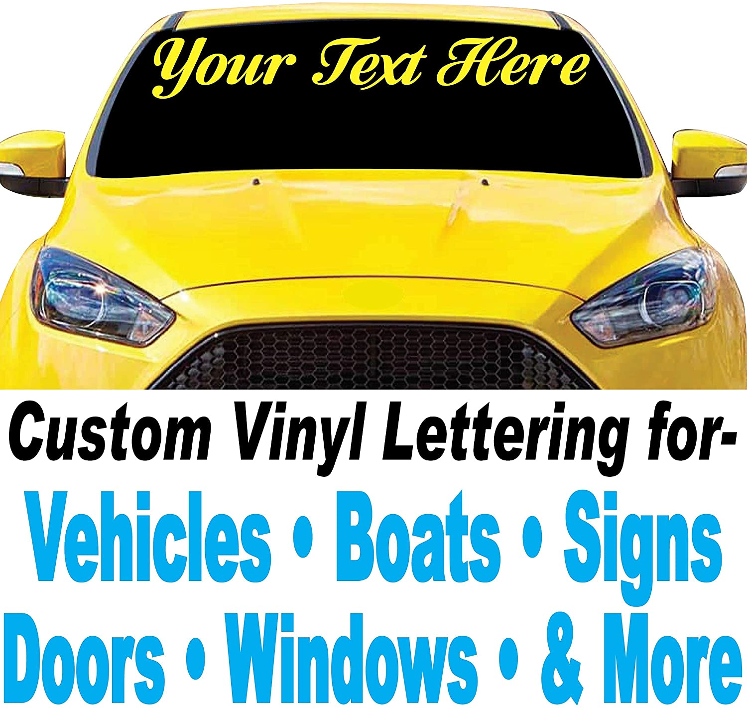 1060 Graphics 2.5 high Custom Vinyl Lettering - Design Your Own Decals - for Car, Truck, Boat, Sign Letters, Door, Window, Mailbox Numbers, and More