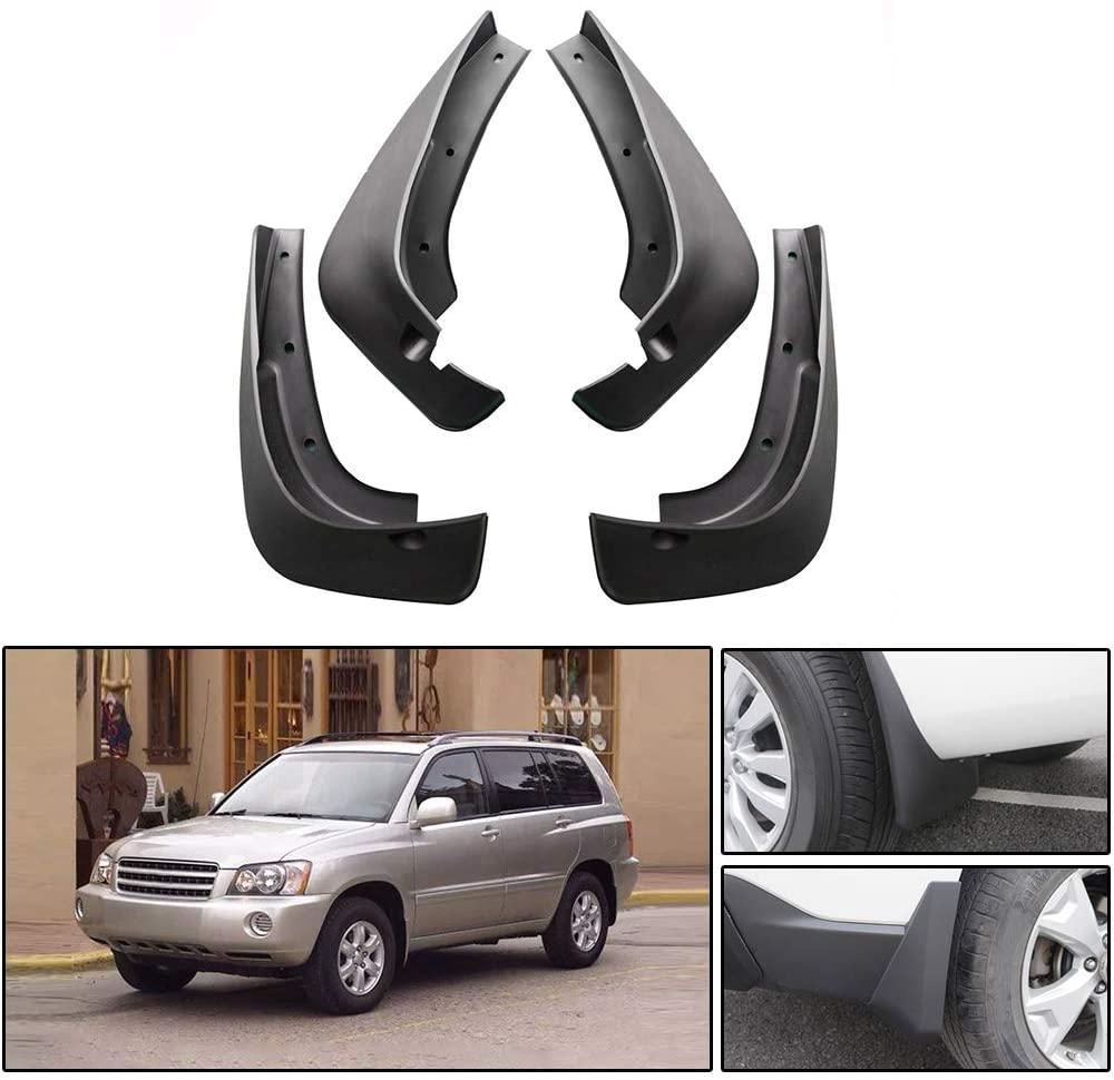 Maite For Toyota Highlander 2003-2005 Car Front and Rear Mud Flaps Splash Guards Fender Mudguard 4Pcs