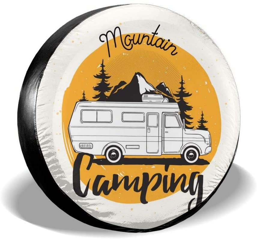 Delerain Camper Van Spare Tire Covers for RV Jeep Trailer SUV Truck and Many Vehicle, Wheel Covers Sun Protector Waterproof (16 Inch for Diameter 29