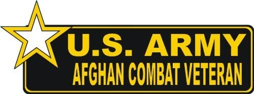 MAGNET United States Army Afghan Combat Veteran Bumper Magnetic Sticker Decal 6