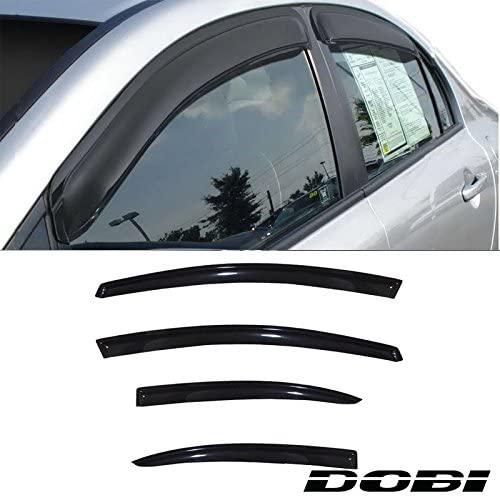 Laprive Auto 4pc Sun/Rain Guard Window Deflector Fit 06-11 Civic 4-Door Sedan Vent Shade Window Visors