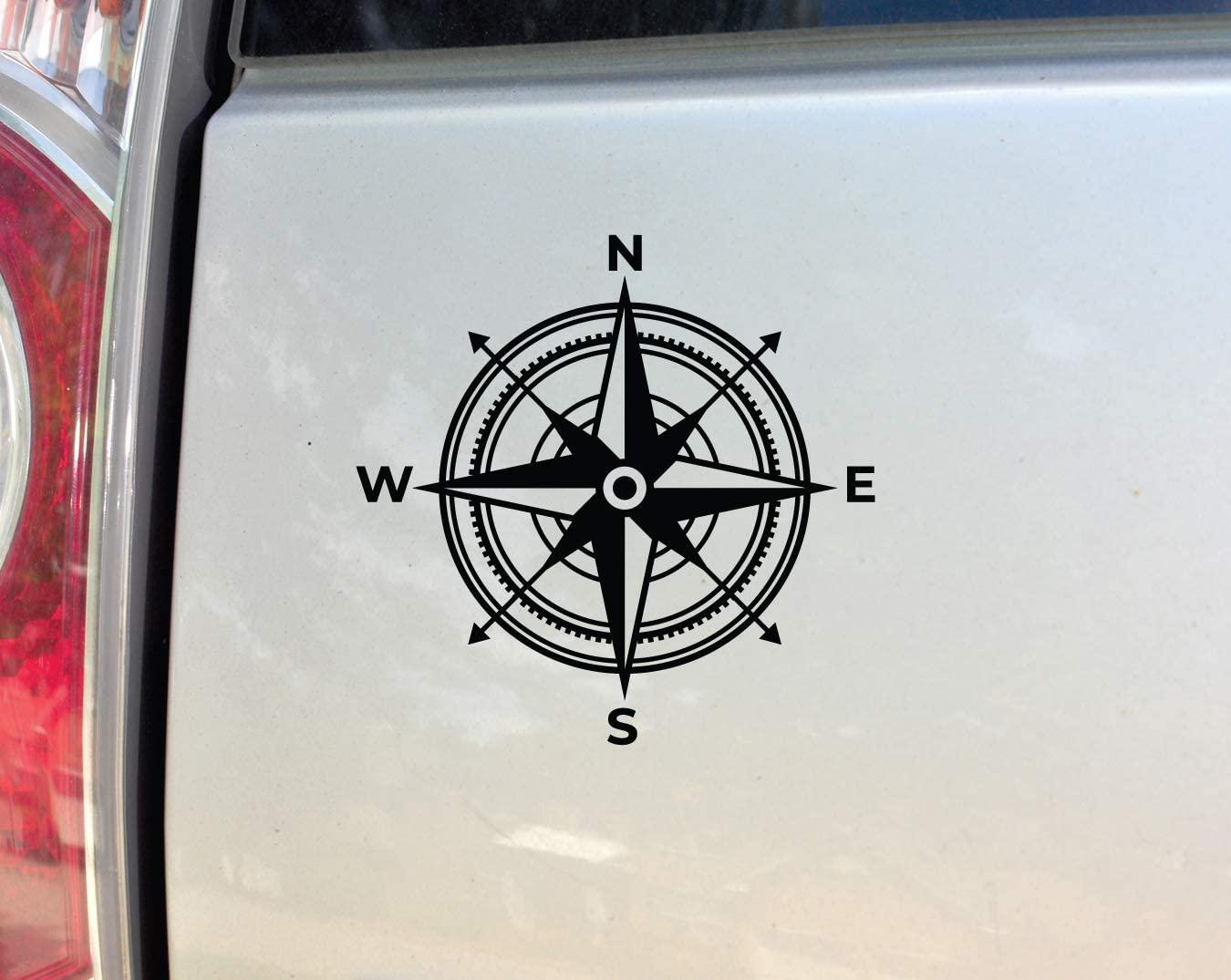 Compass Vinyl Decal Laptop Car Truck Bumper Window Sticker, 5.5