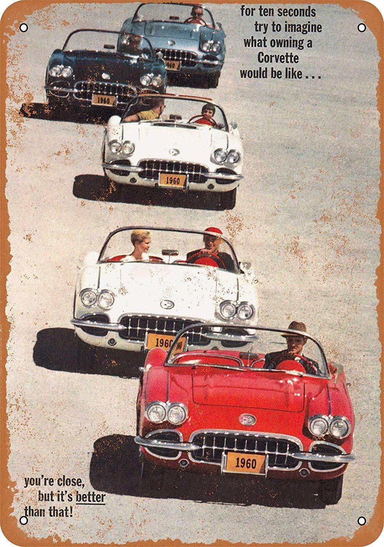 SRongmao 8 x 12 Metal Sign - 1960 Corvette