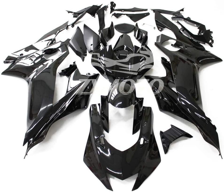 ZXMOTO Motorcycle Bodywork Fairings Kit for YAMAHA YZF R6 2017 2018 2019 Painted Glossy Black