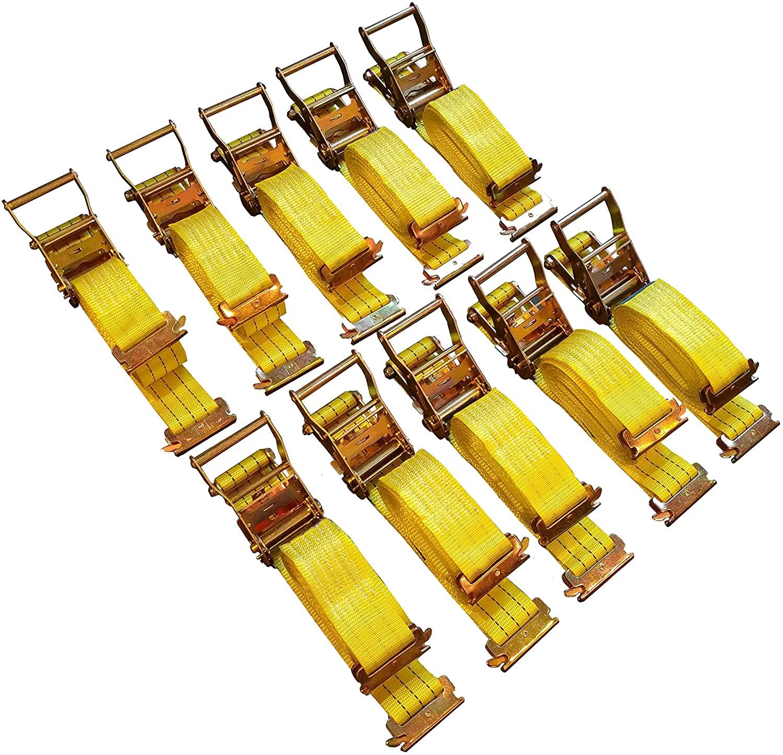 10 Pack E-Track Ratchet Straps 2