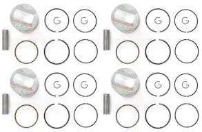 4 Piston Kits - Standard Bore - Fits Honda CB750 CB750F DOHC - Rings Clips & Pins