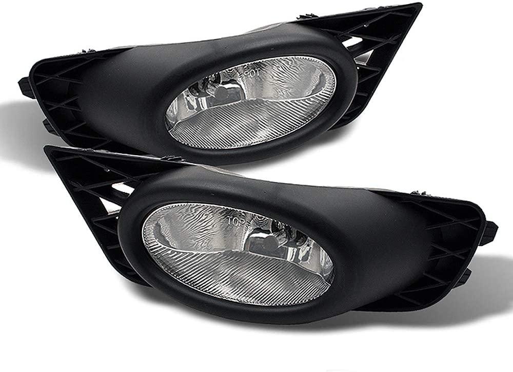 ACANII - For 2009-2011 Honda Civic 4-Door Sedan Bumper Fog Lights Driving Lamps w/Switch Assembly Driver & Passenger