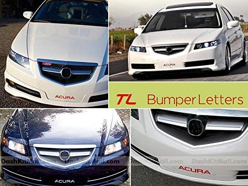 SF Sales USA - Red Front Bumper Letters for Acura TL 2004-2008 Plastic Inserts Not Decals