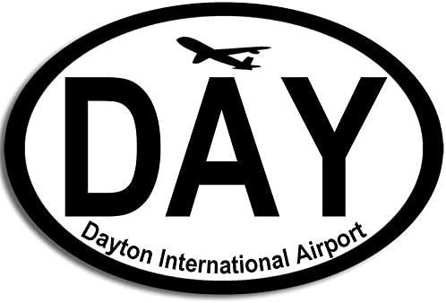 American Vinyl Oval Day Dayton National Airport Code Sticker (Ohio Fly Pilot Jet air hub)