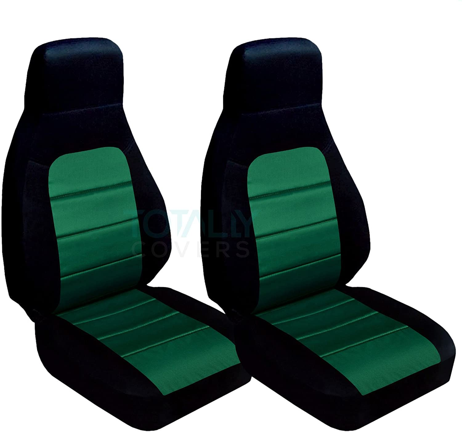Totally Covers Compatible with 1990-2000 Mazda MX-5 Miata Seat Covers: Black and Emerald Green (22 Colors) Bucket