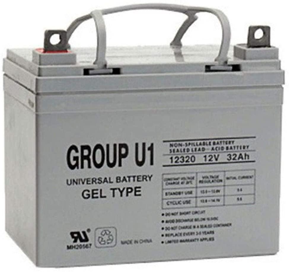 Universal Power Group 12V 32Ah Gel U1 Wheelchair Battery Replaces 36Ah Pihsiang 109101-88107-36P
