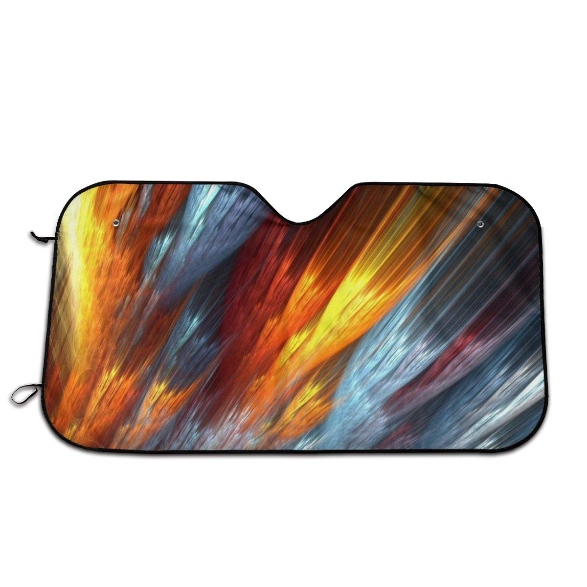 Abstract Fire Windshield Sun Shade Cover Visor Protector Sunshades Covers Awning Shades for Car SUV Truck Universal 70x130cm