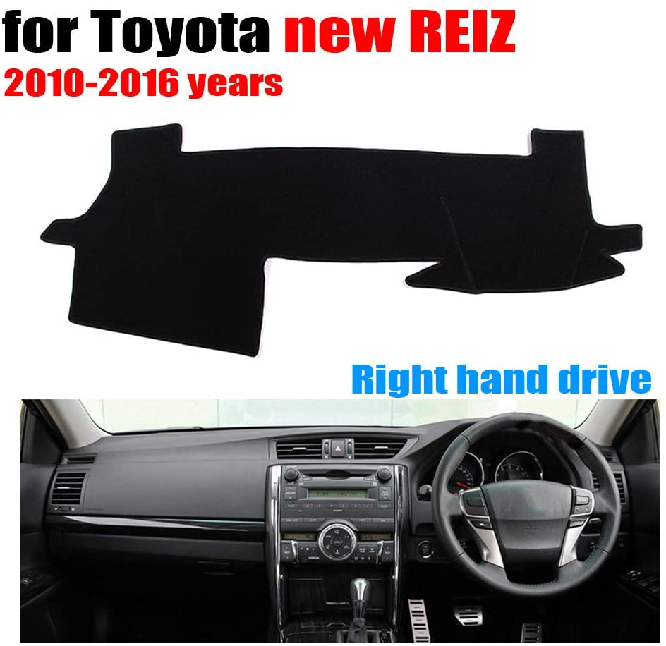 Qnice Car Dashboard Cover for Toyota REIZ 2010-2016 Right Hand Drive Dash Mat Covers Auto Dashboard Protector Accessories