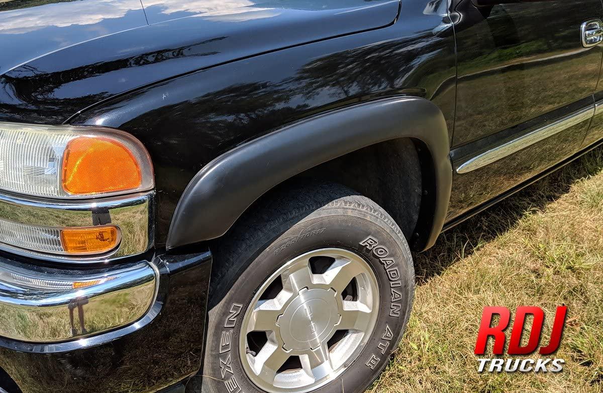 RDJ Trucks HWY-PRO OE Style Fender Flares - Fits Chevrolet Silverado/Fits GMC Sierra 1999-2006 | Suburban/Yukon XL 2000-2006 - Set of 4 (Smooth Paintable)