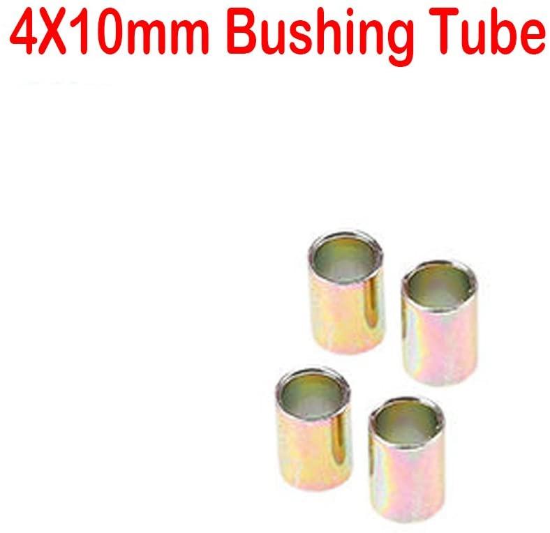 Premium Universal Motorcycle Shock Absorber Rear Suspension 10mm Bushing Tubes, 4pcs