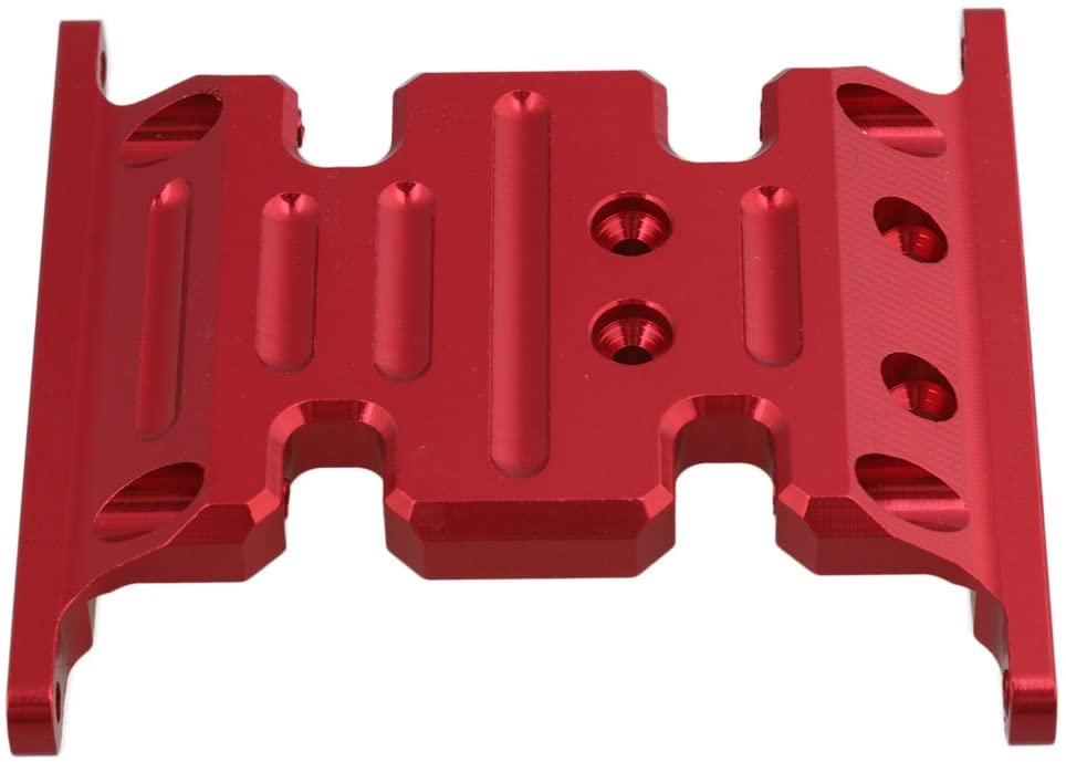 Mxfans Red Upgrade Accessory AX80026 Center Skid Plate for AXIAL SCX10 Electric 4WD RC1:10 Model Car