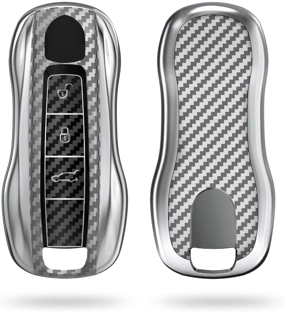 kwmobile Key Cover Compatible with Porsche - Carbon